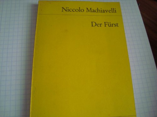 9783150012185: Der Furst by Niccolo Machiavelli 1978