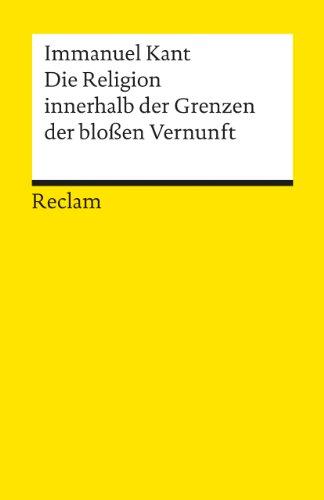 9783150012314: Die Religion Innerhalb (German Edition)