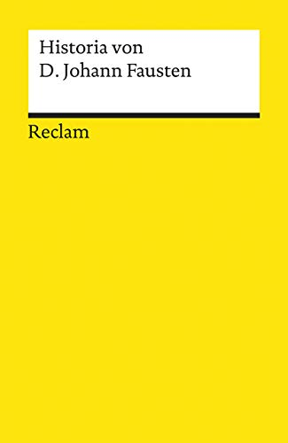 9783150015155: Historia von D. Johann Fausten: Dem weitbeschreyten Zauberer und Schwarzk�nstler
