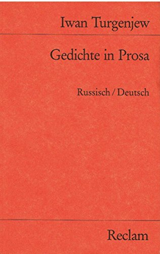 9783150017012 Gedichte In Prosa Russisch Deutsch