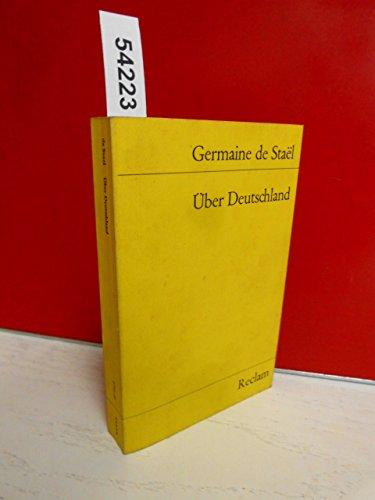 9783150017517: Über Deutschland