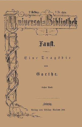 Goethe, J: Faust: Goethe, Johann Wolfgang
