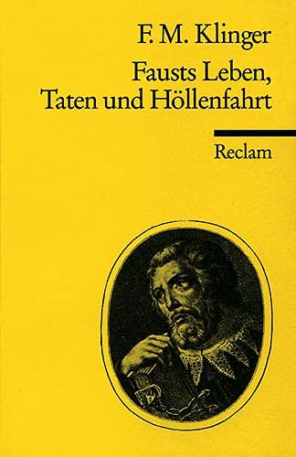9783150035245: Fausts Leben, Taten und Höllenfahrt