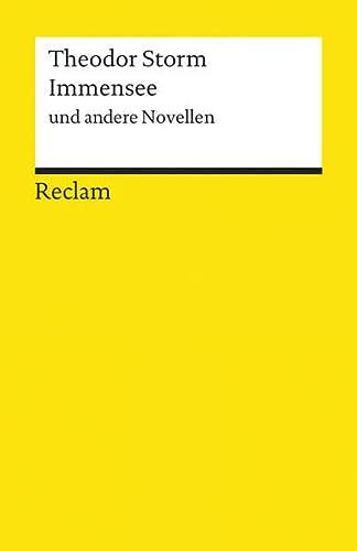 9783150060070: Immensee und andere Novellen (German Edition)