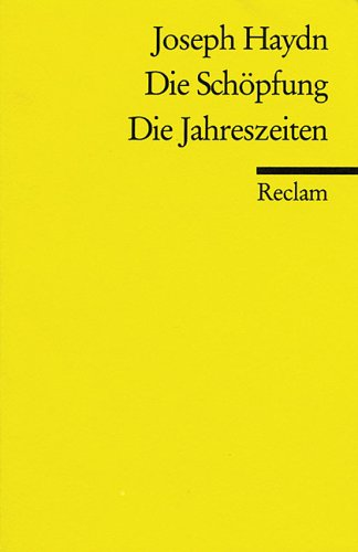 Die Schöpfung / Die Jahreszeiten.: Haydn, Joseph