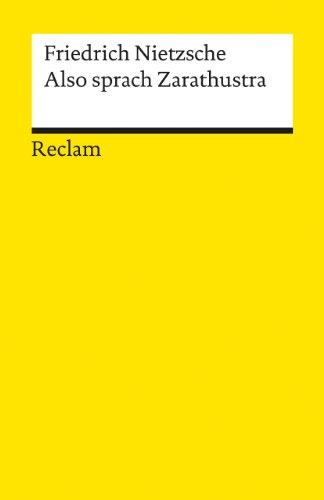 9783150071113: Also Sprach Zarathustra (German Edition)