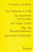 9783150076705: das-erdbeben-in-chili-and-various-selections
