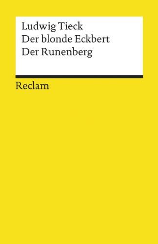 9783150077320: DER BLONDE ECKBERT/DER RUNENBE