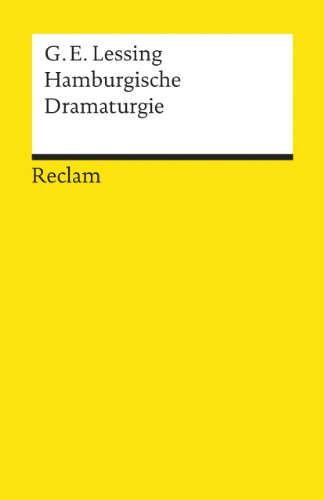 9783150077382: Hamburgische Dramaturgie (German Edition)