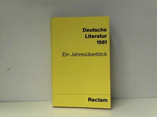 9783150077603: Deutsche Literatur: Ein Jahresüberblick (Universal-Bibliothek)