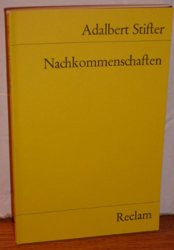 Nachkommenschaften: Stifter, Adalbert