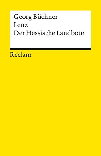 Lenz. Der hessische Landbote.: Büchner, Georg