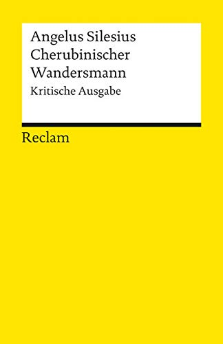 9783150080061: Cherubinischer Wandersmann.