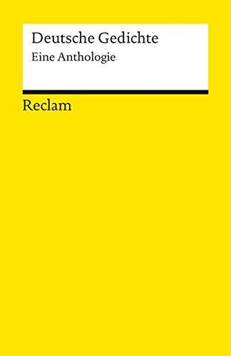 9783150080122: Deutsche Gedichte, Eine Anthologie (German Edition)