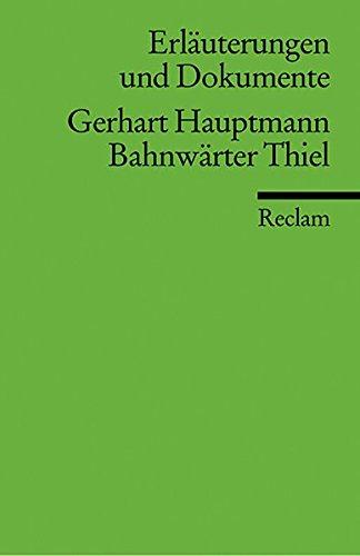 9783150081259: Bahnwarter Thiel (Erlauterungen und Dokumente) (German Edition)