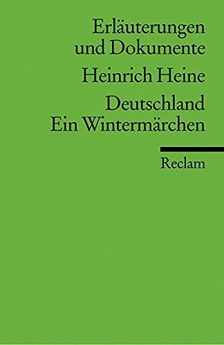 9783150081501: Deutschland. Ein Wintermarchen: Erlauterungen Und Dokumente