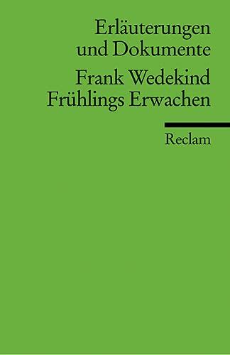 Fruhlings Erwachen: Frank Wedekind