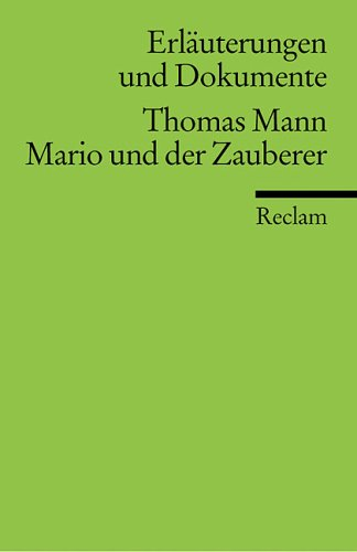 Mario and Der Zauberer: Mann, Thomas