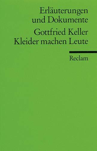 9783150081655: Kleider Machen Leute (German Edition)
