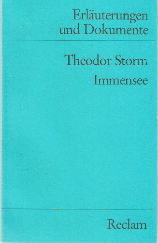 Immensee (French Edition): Storm