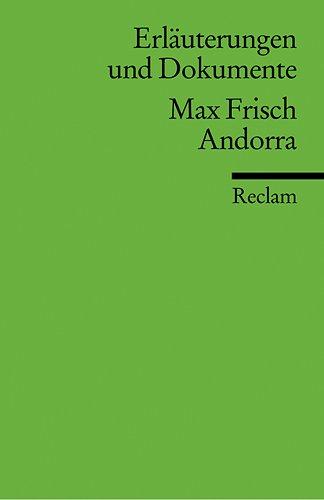 9783150081709: Frisch, M: Andorra Erläuterungen