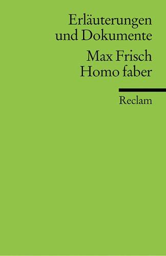 Homo Faber: Max Frisch