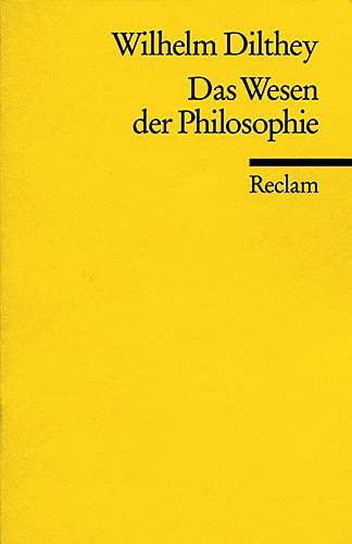 9783150082270: Das Wesen der Philosophie