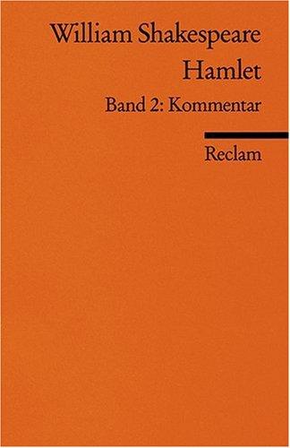 9783150082447: Hamlet 2. Kommentar, Bibliographie.