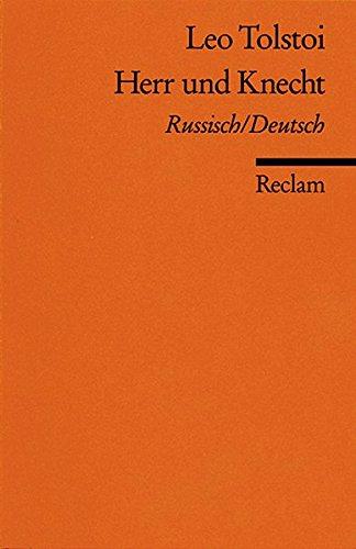 9783150082768: Herr und Knecht: Russ. /Dt