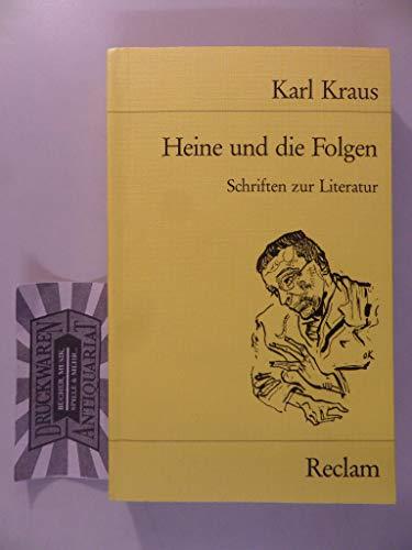 Heine und die Folgen: Kraus, Karl
