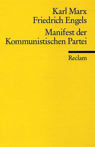 9783150083239: Manifest Der Kommunistischen Partei (German Edition)