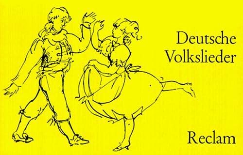 9783150086650: Deutsche Volkslieder. 168 Volkslieder und volkstümliche Lieder