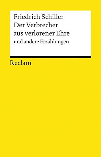 9783150088913: Der Verbrecher Aus Verlorener Ehre (German Edition)