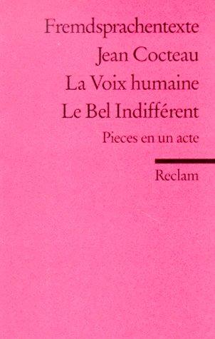 9783150090312: La Voix humaine
