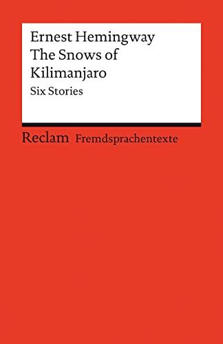 9783150091203: The Snows of Kilimanjaro: Six Stories