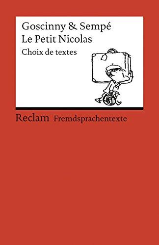 9783150092040: Le Petit Nicolas: Choix de textes