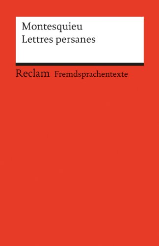Lettres persanes (Paperback): Charles de Montesquieu