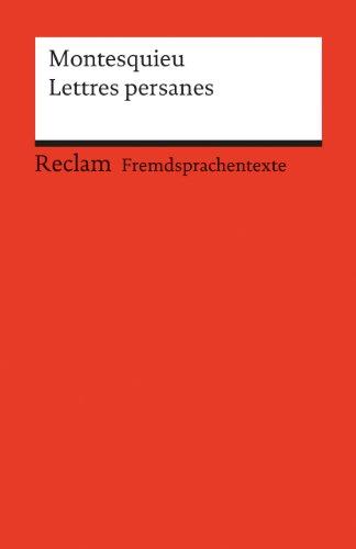 9783150092262: Lettres persanes.