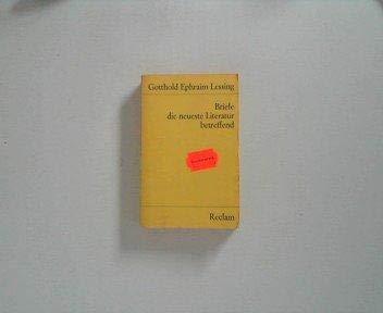 9783150093399: Briefe, die neueste Literatur betreffend (Universal Bibliothek; Nr. 9339/9344/9344a) (German Edition)