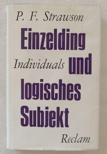 9783150094112: Individuals: An Essay in Descriptive Metaphysics