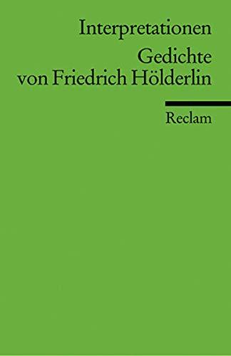 9783150094723: Interpretationen. Gedichte von Friedrich Hölderlin