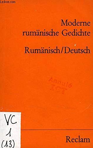 Moderne Rumanische Gedichte Ruman U Dt