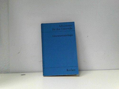 9783150095140: Literatursoziologie. (Arbeitstexte für den Unterricht)