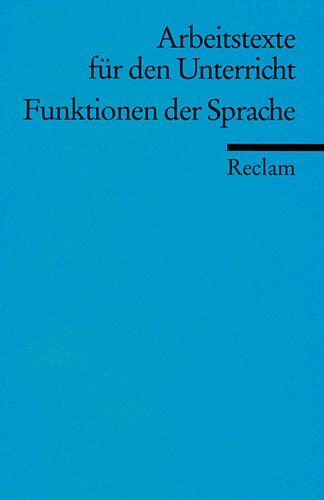 Funktionen der Sprache, Arbeitstexte für den Unterricht: Gerhart Hauptmann