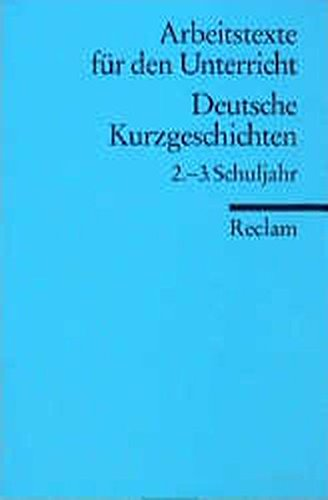 9783150095287: Deutsche Kurzgeschichten 2.-3. Schuljahr