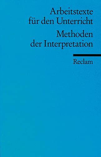 9783150095867: Methoden der Interpretation