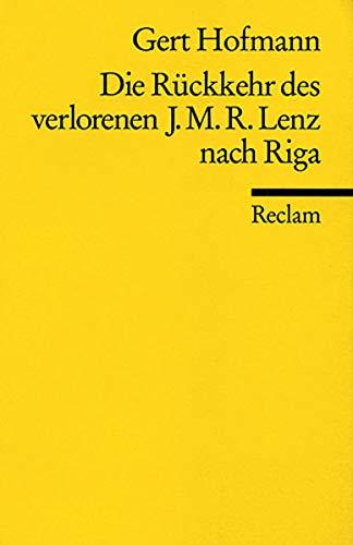 Die Rückkehr des verlorenen Jakob Michael Reinhold: Hofmann, Gert