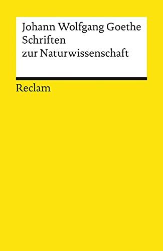 9783150098660: Schriften zur Naturwissenschaft Auswahl
