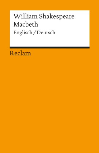9783150098707: Macbeth (English and German Edition)