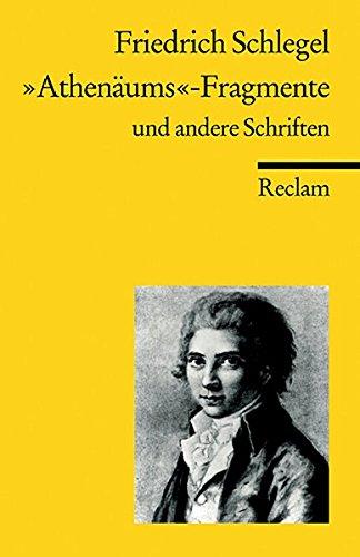 Kritische Und Theoretische Schriften (Universal-Bibliothek) (German Edition) (3150098807) by Friedrich von Schlegel